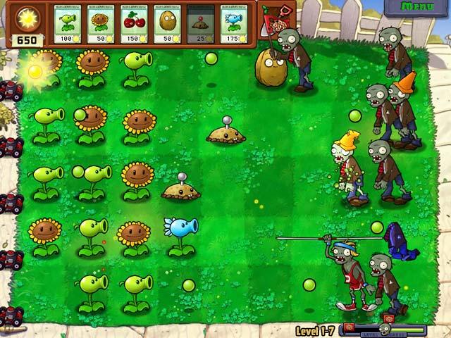 Spel Screenshot 1 Planten tegen Zombies