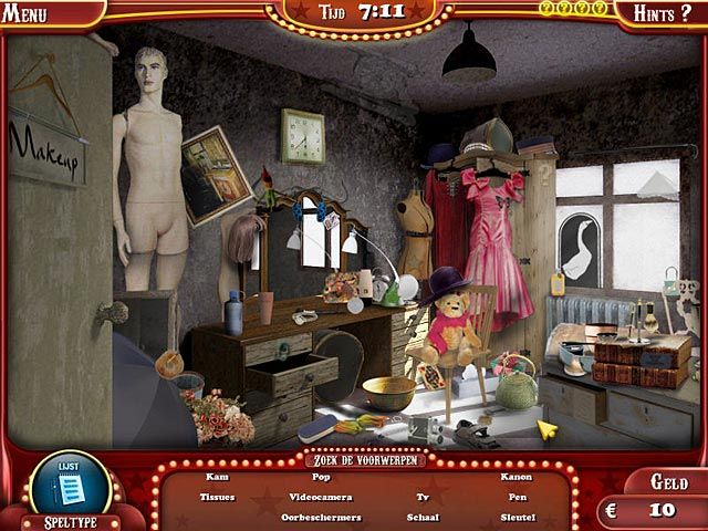 Spel Screenshot 1 The Hidden Object Show