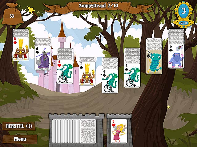 Spel Screenshot 1 Wonderland Solitaire