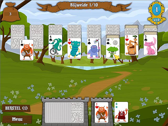 Spel Screenshot 2 Wonderland Solitaire