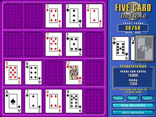 Game Skärmdump 3 Five Card Deluxe