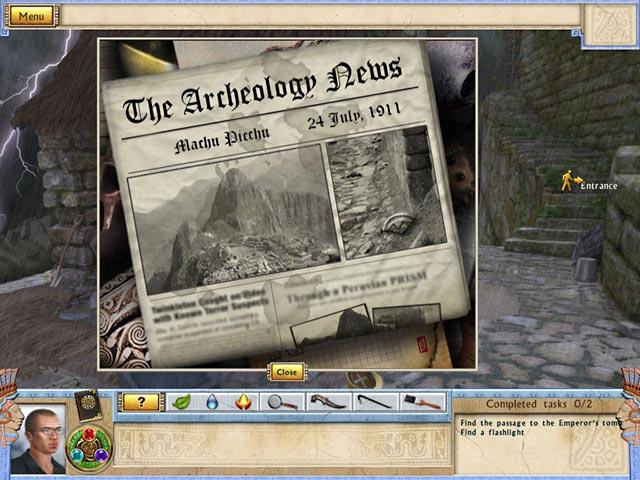 Game Skärmdump 3 Alabama Smith in the Quest of Fate