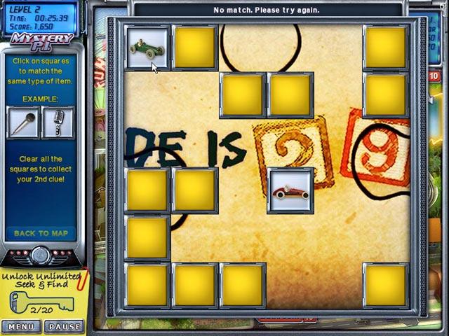 Game Skärmdump 3 Mystery P.I. - The Lottery Ticket
